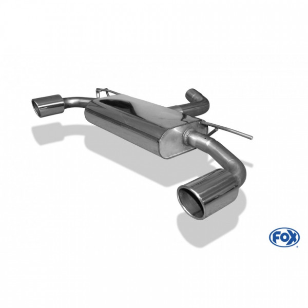 Fox VW Golf VII - 2,0l GTI Endschalldämpfer rechts/links - 1x100 Typ 16 rechts/links