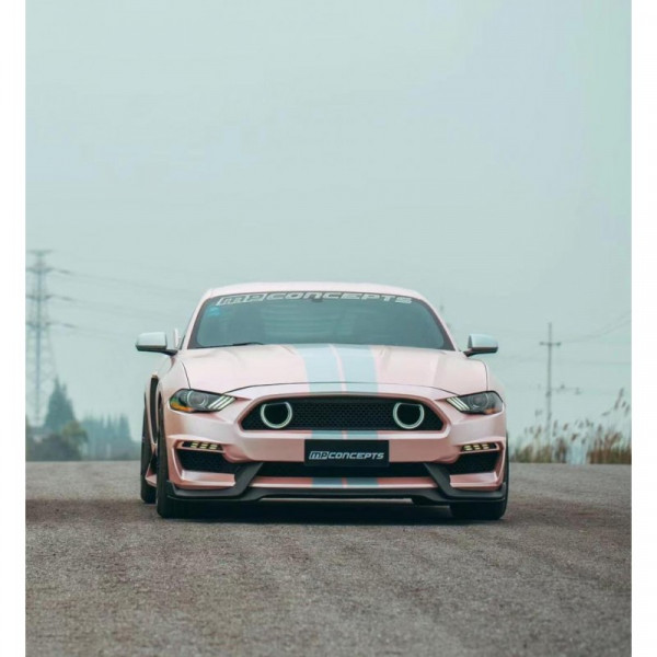 MACH1 Style Frontstoßstange + Blinker LED/DRL (FORD MUSTANG 2018-2021 EcoBoost, GT)