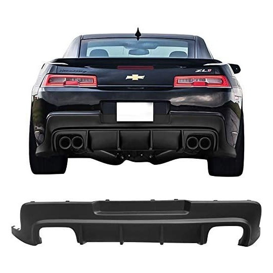 Quad Exhaust Rear Diffuser ZL1 Style With Fins (CHEVROLET CAMARO 2014-2015)