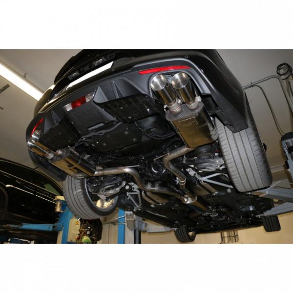 Ford Mustang VI Facelift Coupe & Convertible - 8 -Zylinder Endschalldämpfer rechts/links - 2x100 Typ