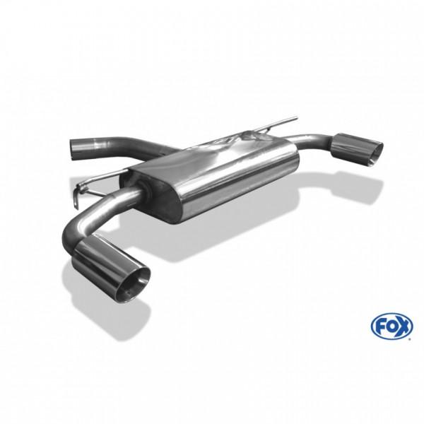 Fox VW Golf VII - 2,0l GTI Endschalldämpfer rechts/links - 1x90 Typ 25 rechts/links