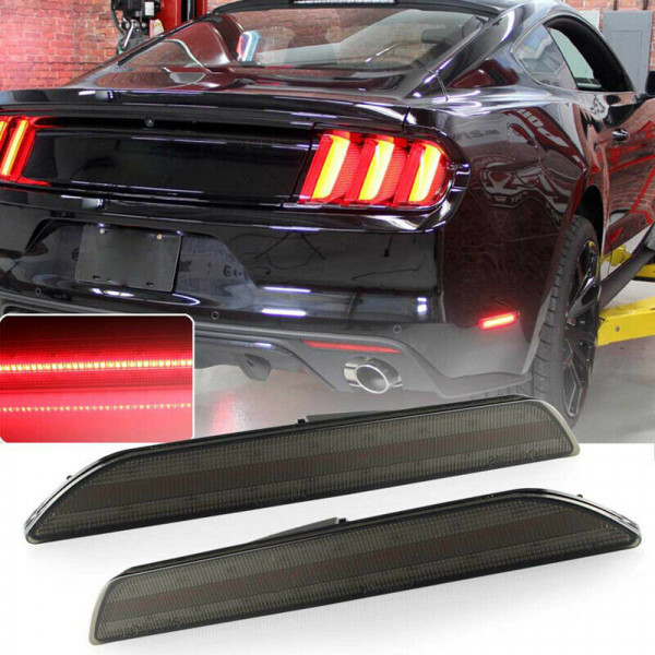 Ford Mustang 2015 - 2019 Sidemarker Black Smoked
