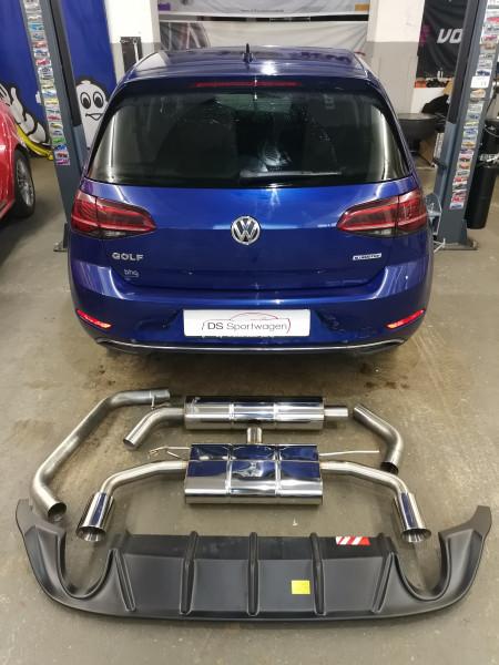 VW Golf VII Facelift Fox komplett Abgasanlage