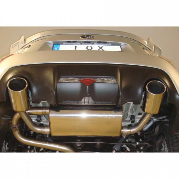 Toyota GT86 Endschalldämpfer quer Ausgang rechts/links - 129x106 Typ 32