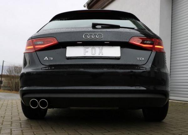 Audi A3 - 8V Sportback Endschalldämpfer einseitig - 2x90 Typ 16