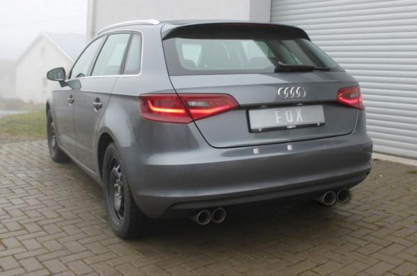 Audi A3 - 8V Sportback Endschalldämpfer Ausgang rechts/links - 2x80 Typ 25 rechts/links