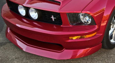 2005-2009 Ford Mustang V8 GT 4.6L IKON Style Front Bumper Lip Chin Spoiler