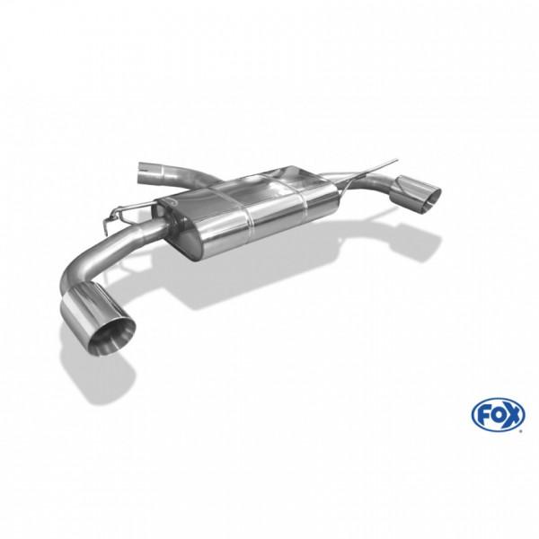 Fox VW Golf VII - 2,0l GTI Endschalldämpfer rechts/links - 1x100 Typ 25 rechts/links