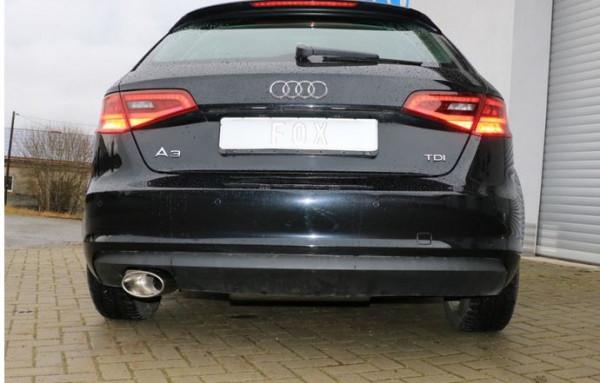 Audi A3 - 8V Sportback Endschalldämpfer einseitig - 160x90 Typ 38