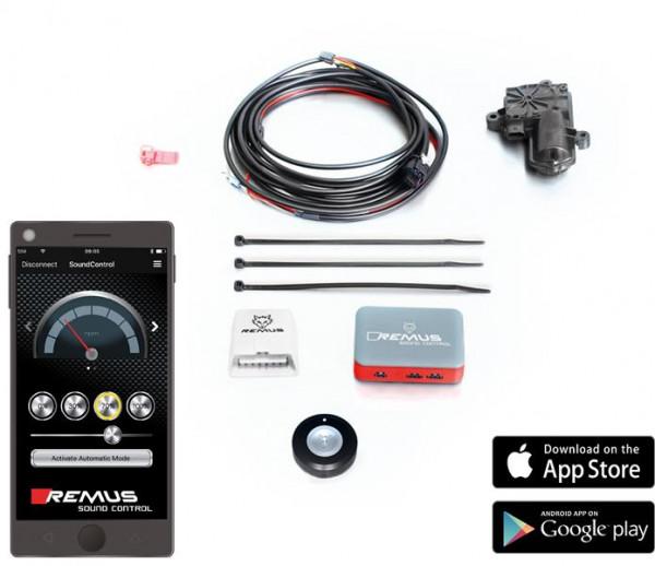 Der REMUS Sound Controller, bestehend aus der elektronischer Steuereinheit
