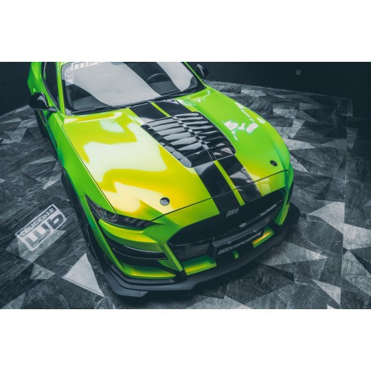 GT500 STYLE ALUMINUM HOOD - (MUSTANG 2015-2017 V6, GT, ECOBOOST)