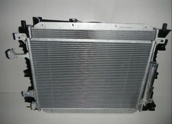Wasserkühler & Kühlerlüfter & Kondensator Satz für Ford Mustang 2010-2014