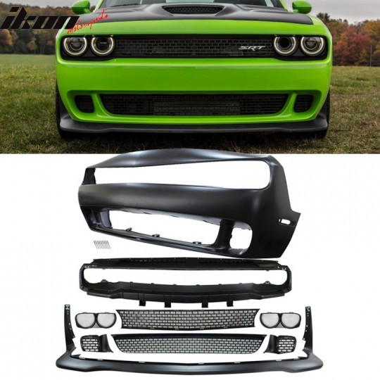 HELLCAT STYLE FRONT BUMPER KIT (CHALLENGER 2015-2021)