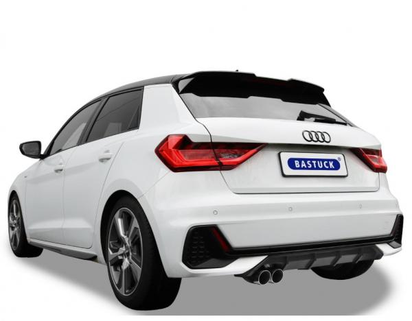Bastuck Komplettanlage für Audi A1 Typ GB (Sportback) 2x70mm, 20° schräg geschnitten
