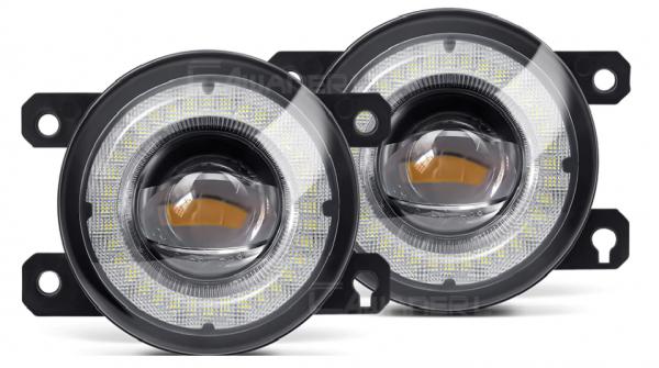 Ford Mustang 2015 - 2017 - 2 er Set Vorderen Stoßfänger LED Nebel Licht Montage Angel Eye Tagfahrl